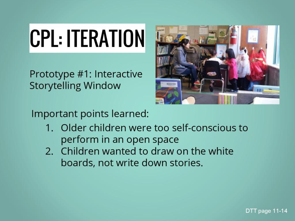CPL: ITERATION Prototype #1: Interactive Storyt...