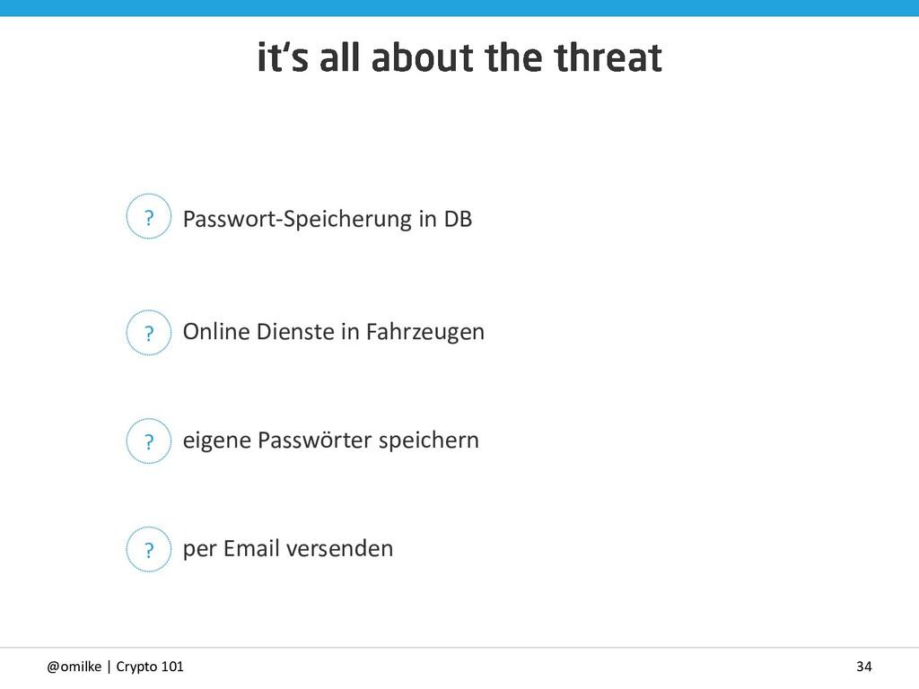 34 @omilke | Crypto 101 Passwort-Speicherung in...