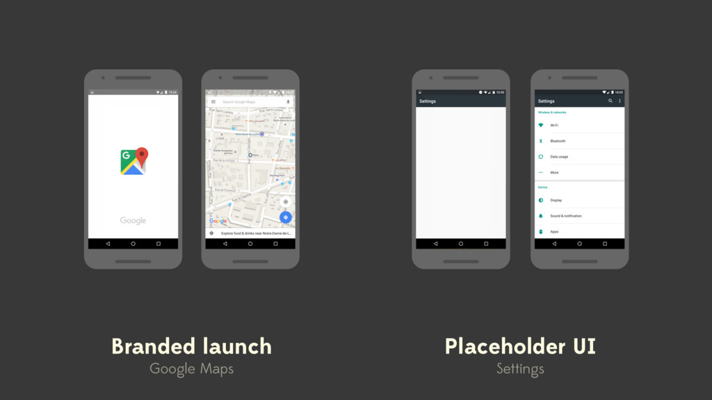 Branded launch Google Maps Placeholder UI Setti...