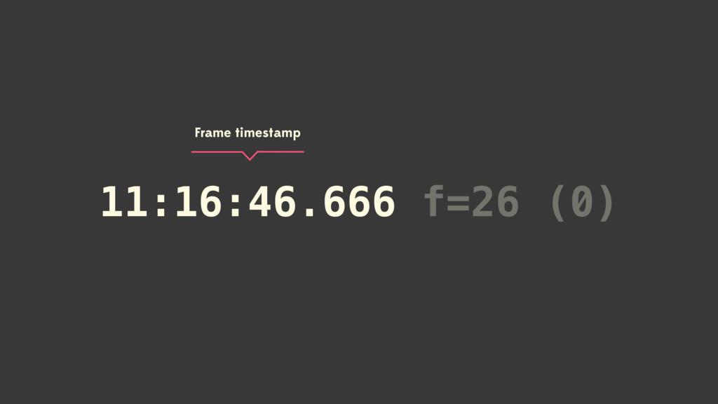 11:16:46.666 f=26 (0) 11:16:46.666 Frame timest...