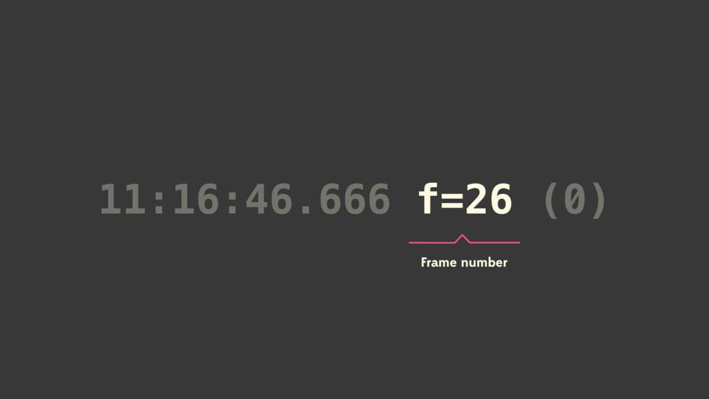 11:16:46.666 f=26 (0) f=26 Frame number