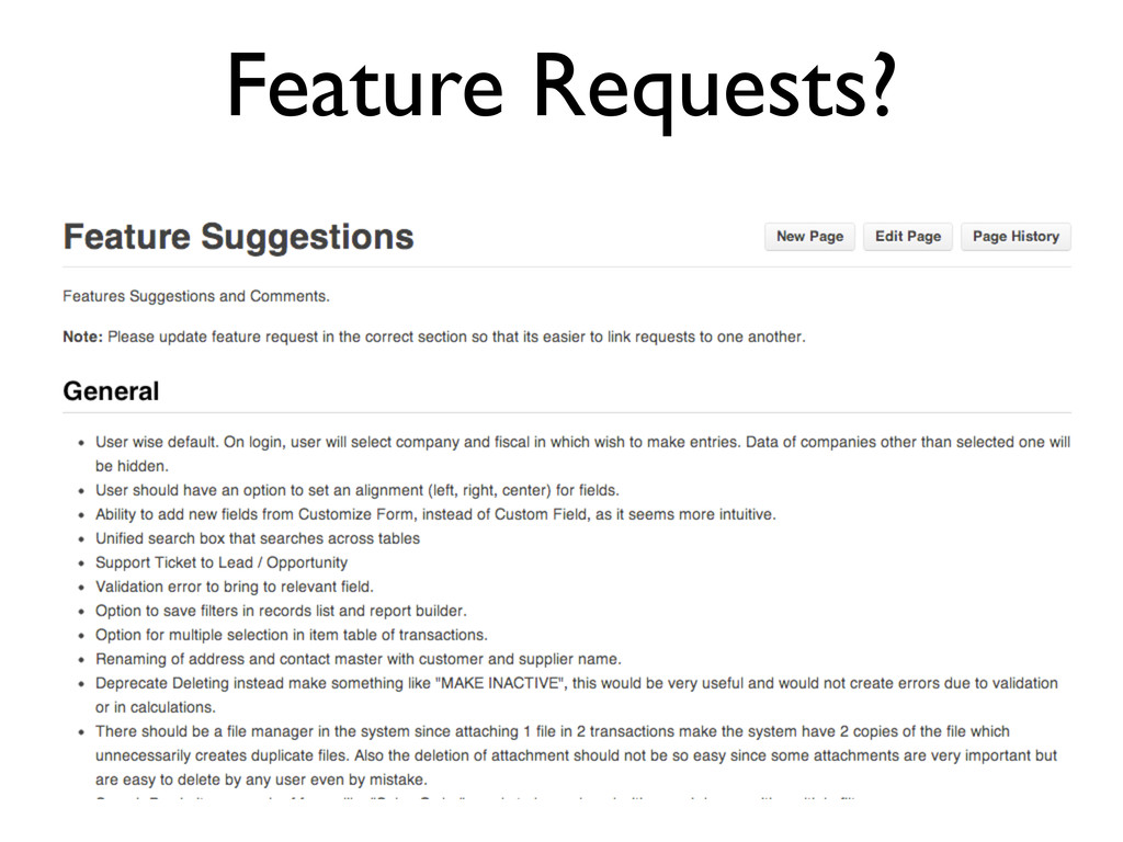 Feature Requests?