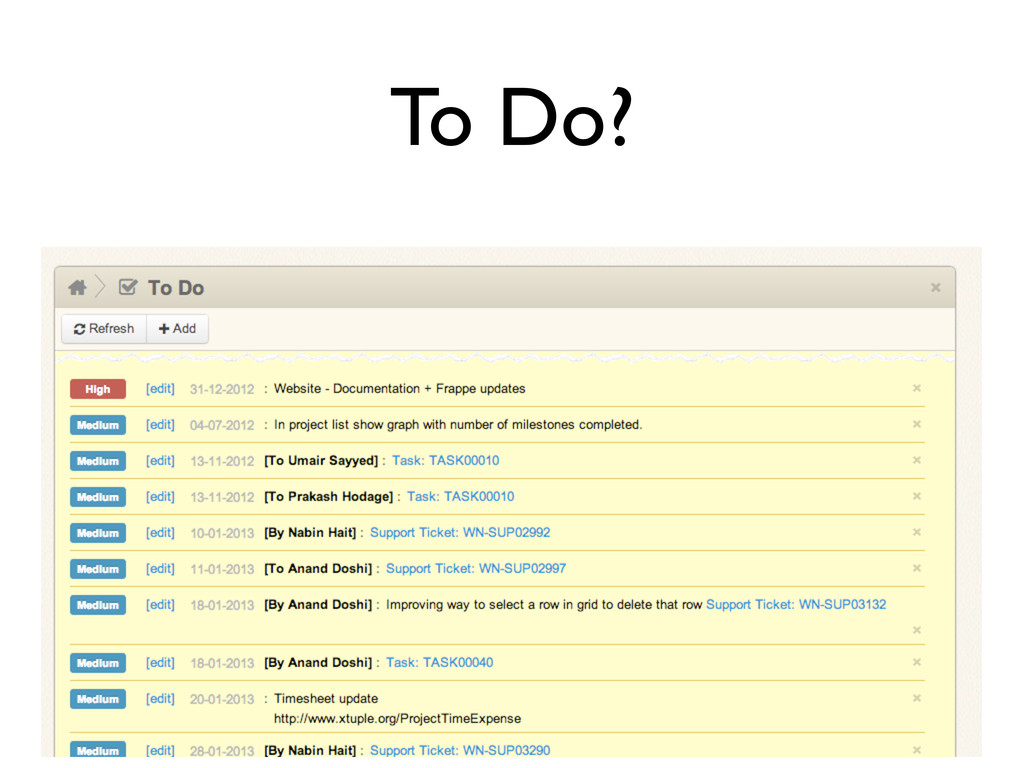 To Do?