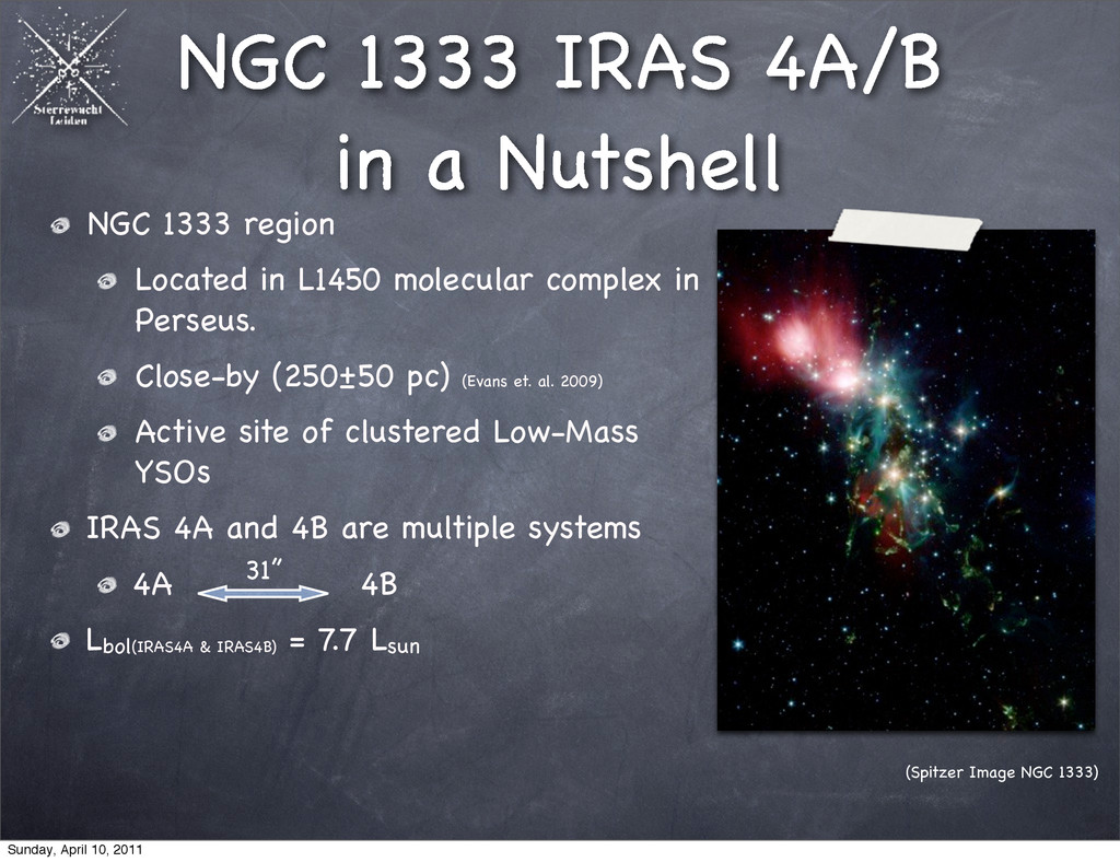 NGC 1333 IRAS 4A/B in a Nutshell NGC 1333 regio...