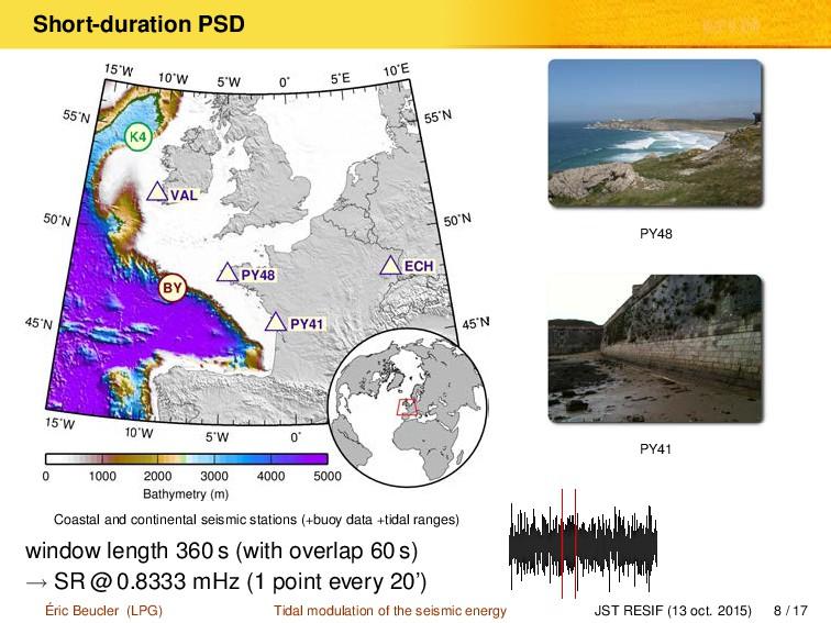 Short-duration PSD Coastal and continental seis...