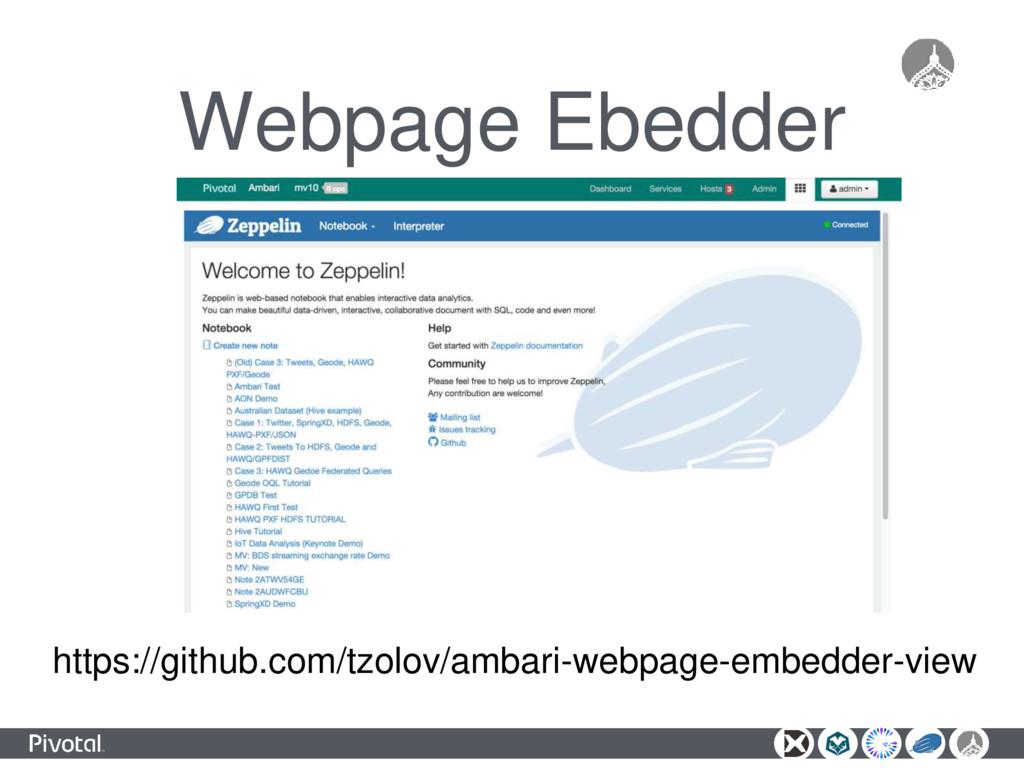 Webpage Ebedder https://github.com/tzolov/ambar...