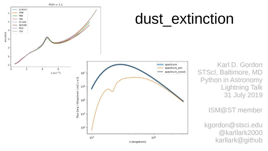 dust_extinction Karl D. Gordon STScI, Baltimore...