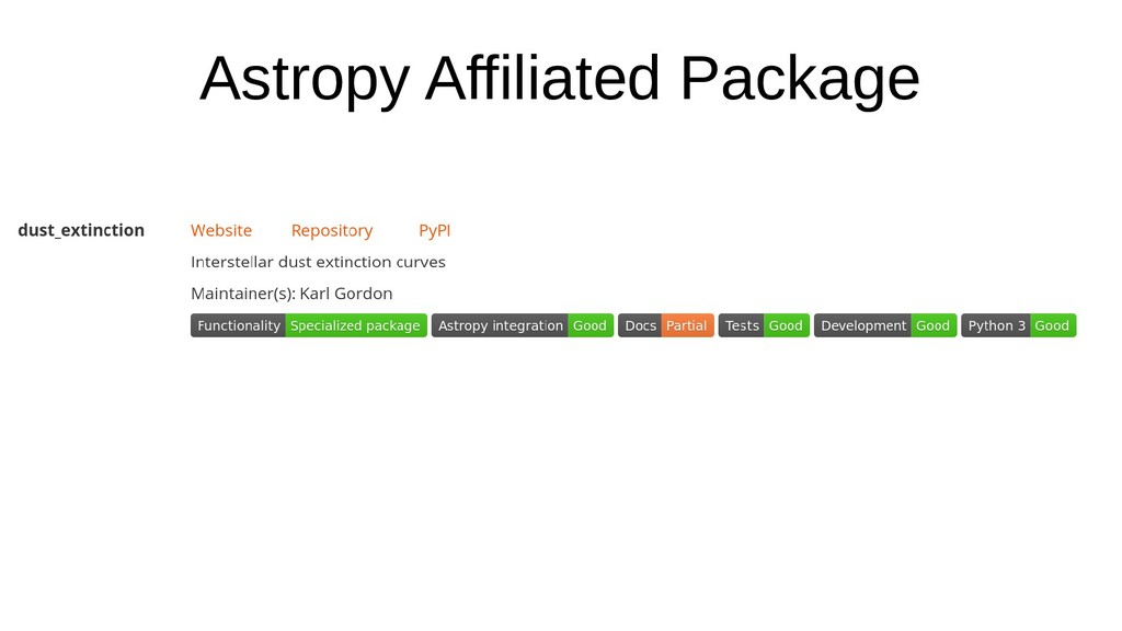 Astropy Affiliated Package