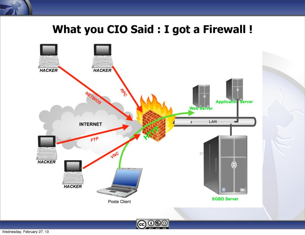 What you CIO Said : I got a Firewall ! 27 Wedne...