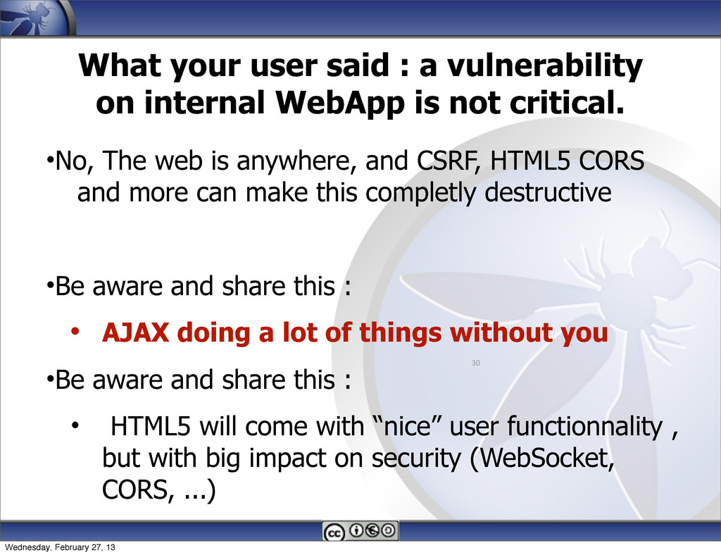 What your user said : a vulnerability on intern...