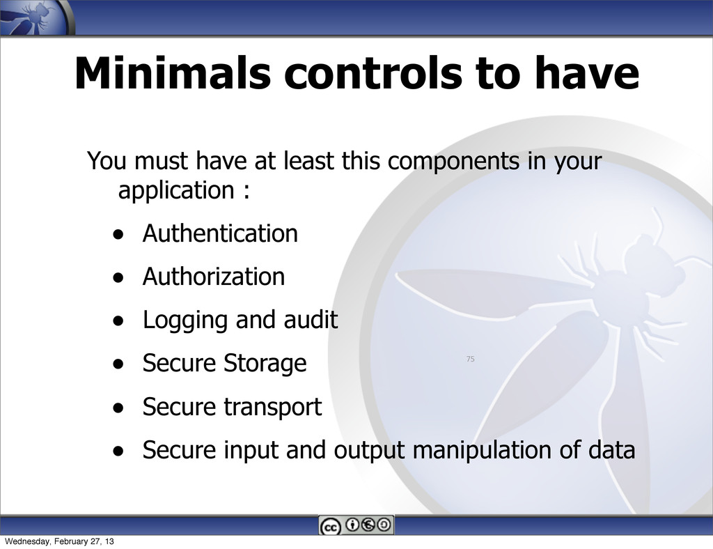Minimals controls to have You must have at leas...