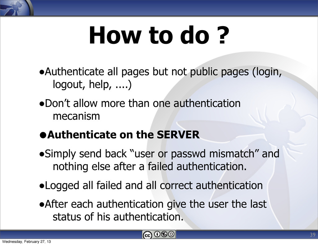 How to do ? •Authenticate all pages but not pub...
