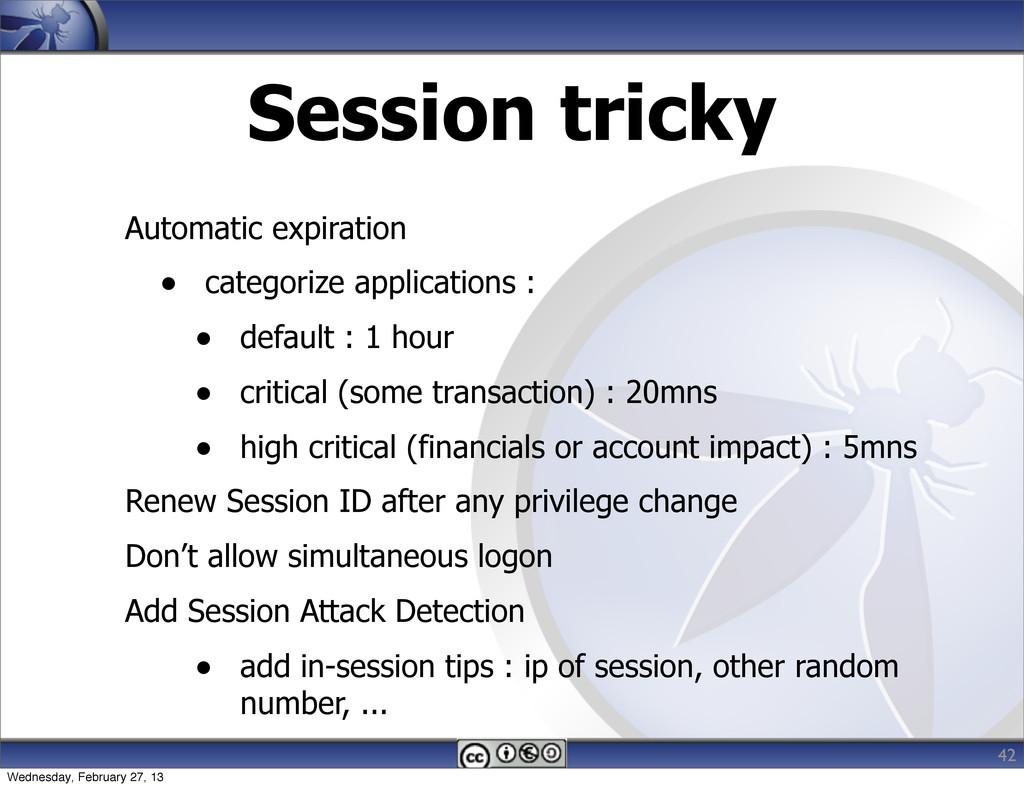 Session tricky Automatic expiration • categoriz...