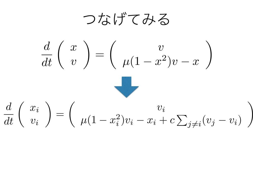 ͭͳ͛ͯΈΔ d dt ✓ xi vi ◆ = ✓ vi µ(1 x2 i )vi xi + ...
