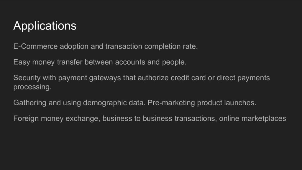 Applications E-Commerce adoption and transactio...