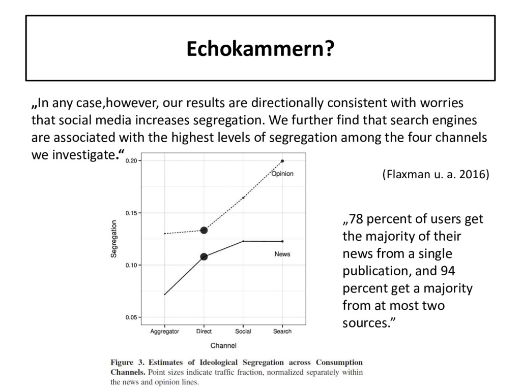 """Echokammern? """"In any case,however, our results ..."""