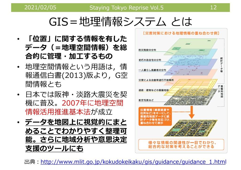 2021/02/05 Staying Tokyo Reprise Vol.5 12 GIS=地...