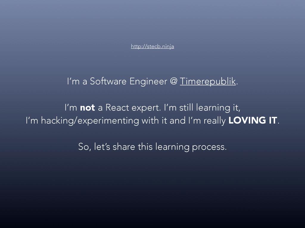 I'm a Software Engineer @ Timerepublik. I'm not...
