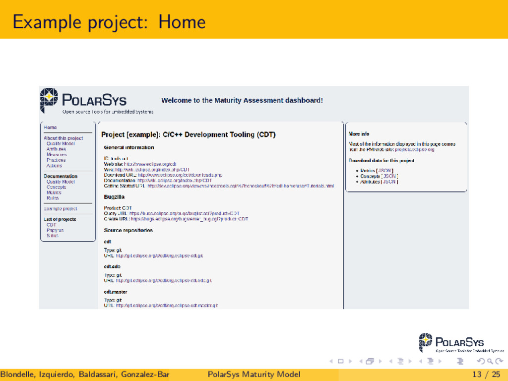 Example project: Home Blondelle, Izquierdo, Bal...