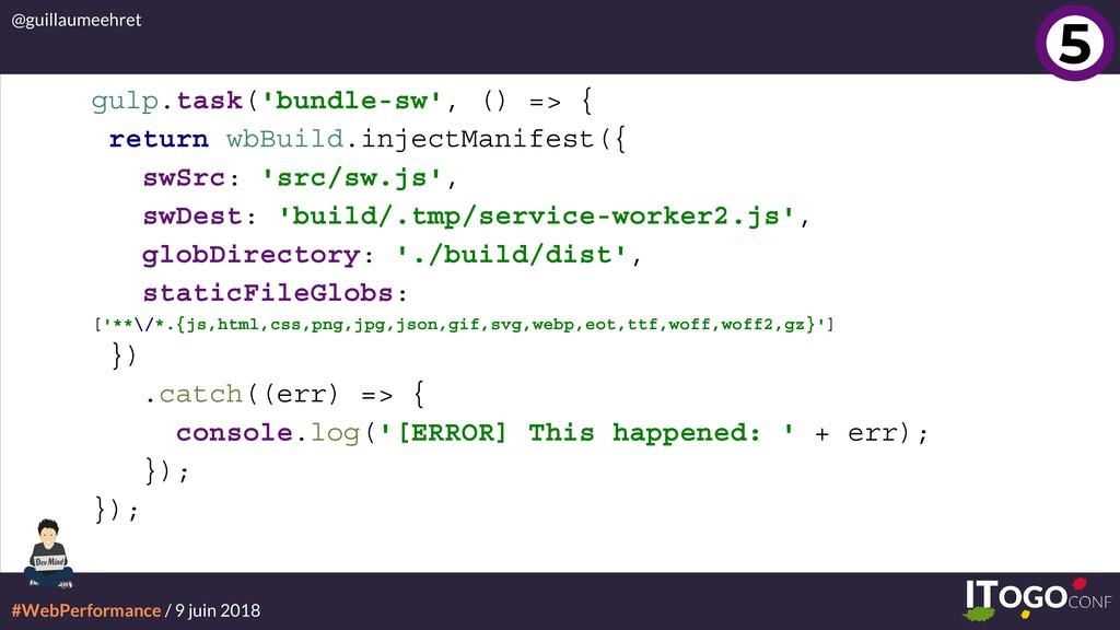 #WebPerformance / 9 juin 2018 @guillaumeehret g...