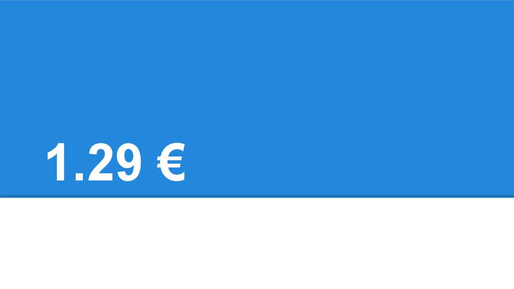 1.29 €