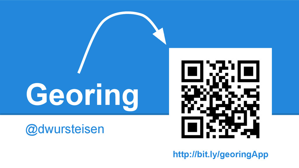 Georing @dwursteisen http://bit.ly/georingApp