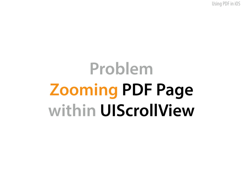 Using PDF in iOS Problem