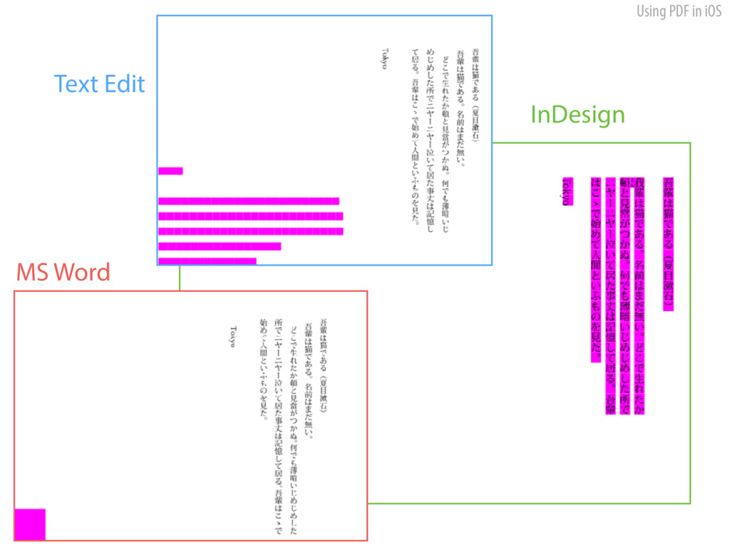 Using PDF in iOS Text Edit InDesign MS Word