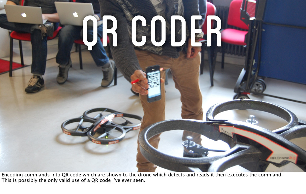 QR CodeR Encoding commands into QR code which a...
