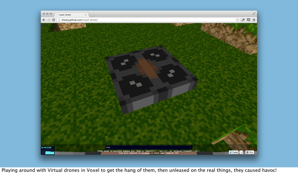 Playing around with Virtual drones in Voxel to ...
