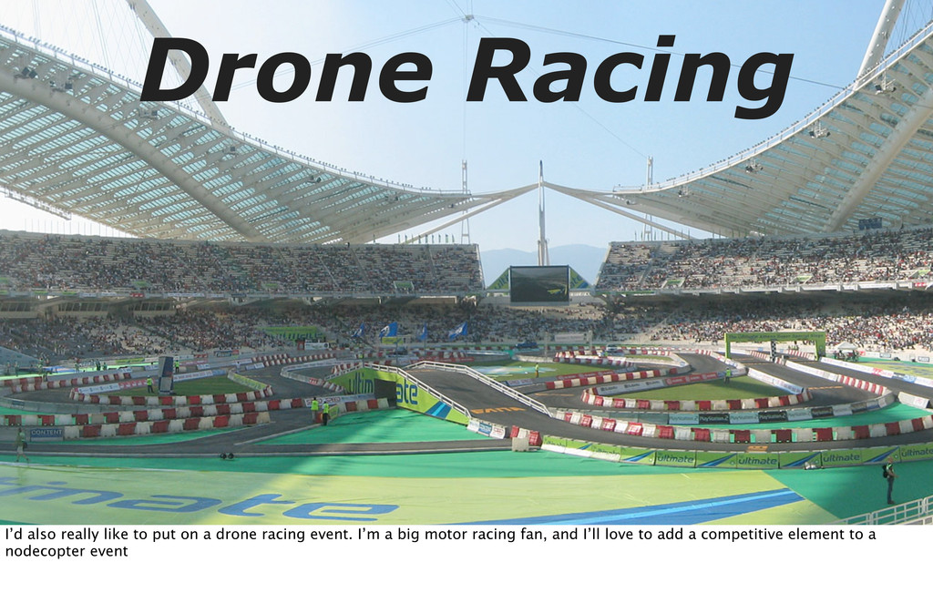Drone Racing I'd also really like to put on a d...