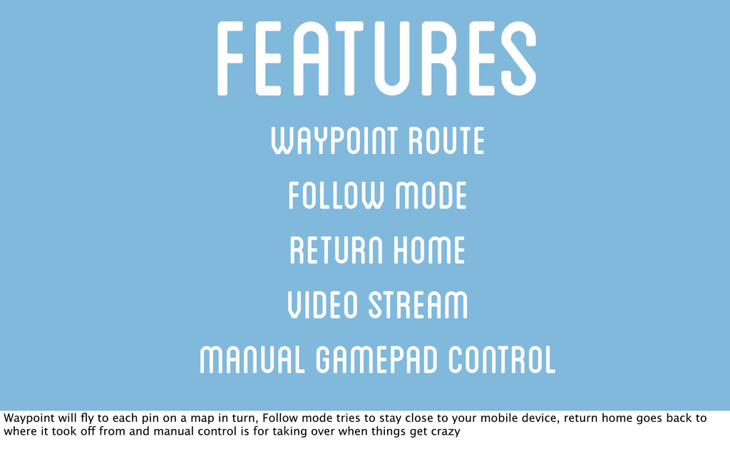 Waypoint Route Follow Mode Return Home Video St...