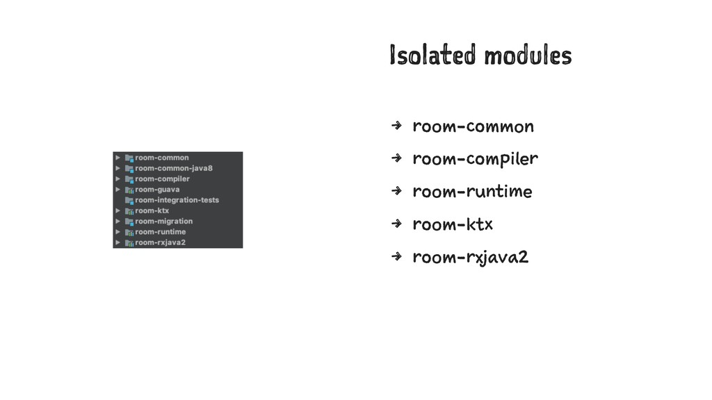 Isolated modules 4 room-common 4 room-compiler ...