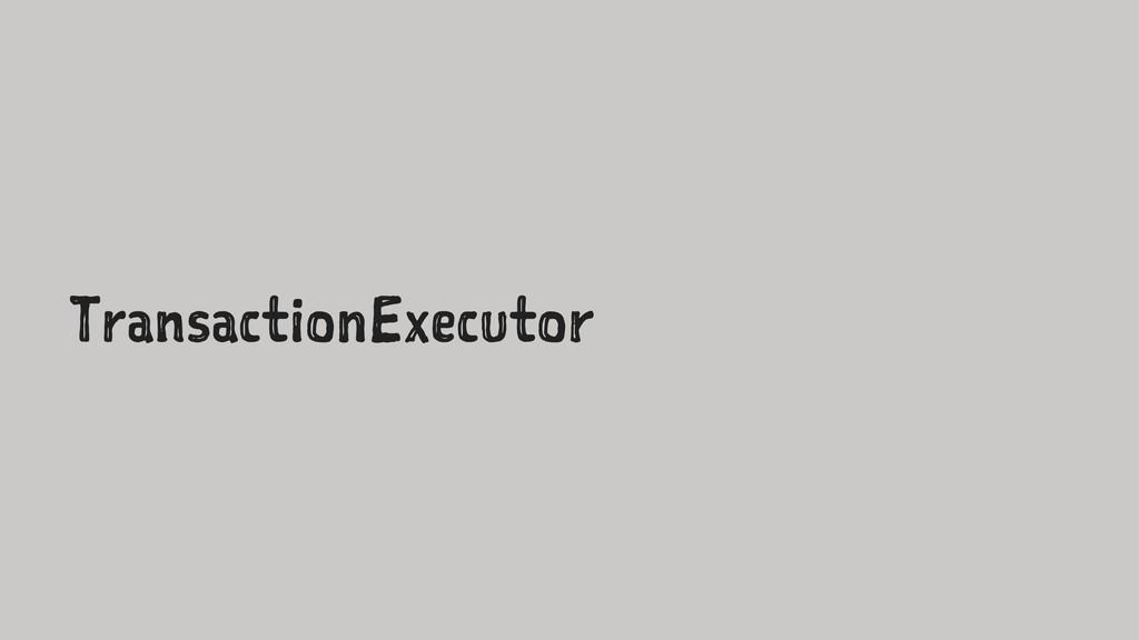 TransactionExecutor