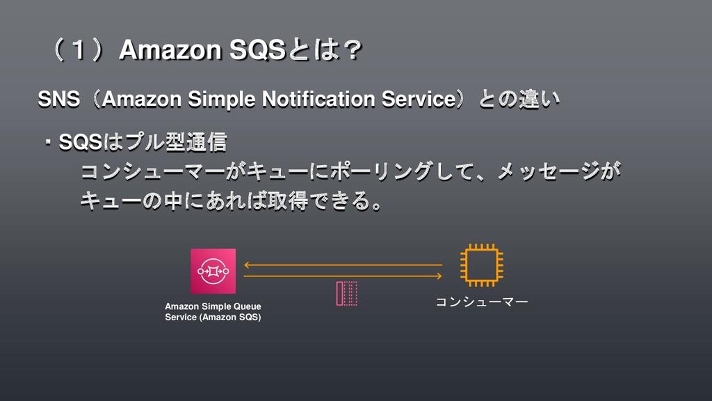 SNS(Amazon Simple Notification Service)との違い ・SQ...