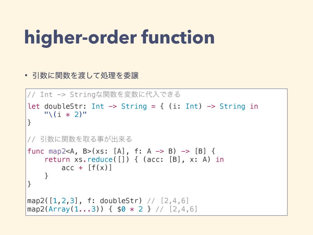 higher-order function // Int -> StringͳؔΛมʹೖ...