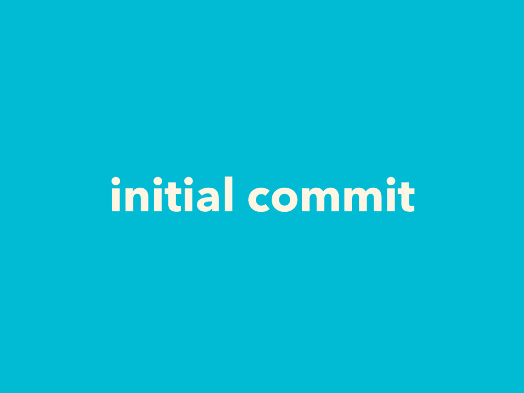 initial commit
