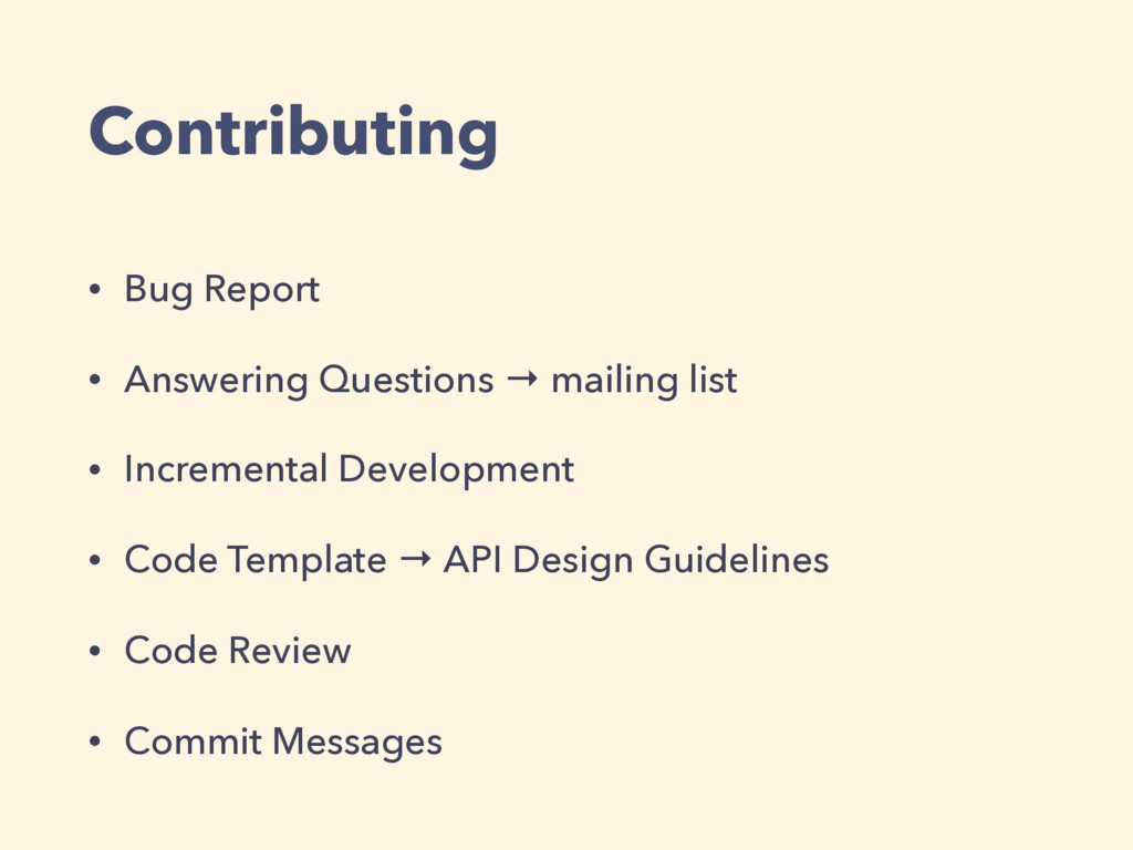 Contributing • Bug Report • Answering Questions...