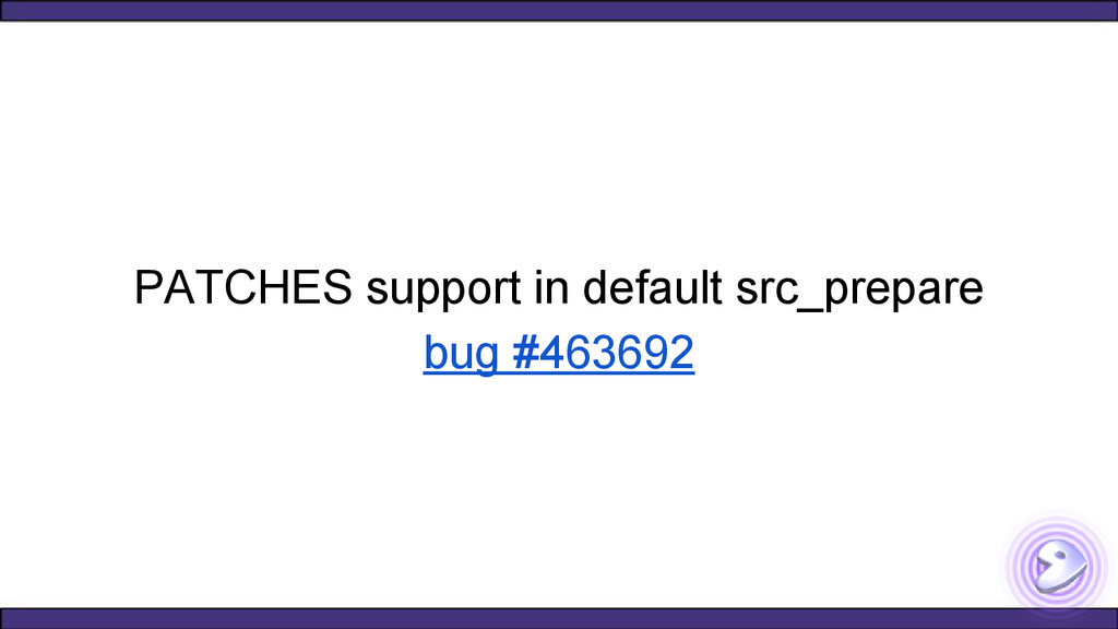 PATCHES support in default src_prepare bug #463...
