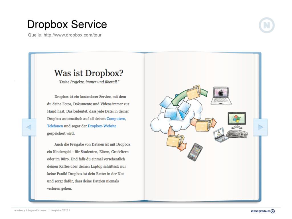 Dropbox Service Quelle: http://www.dropbox.com/...