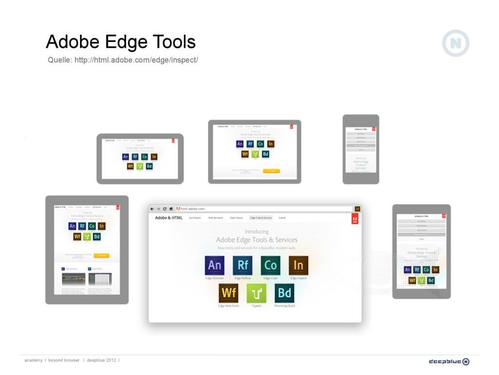Adobe Edge Tools Quelle: http://html.adobe.com/...