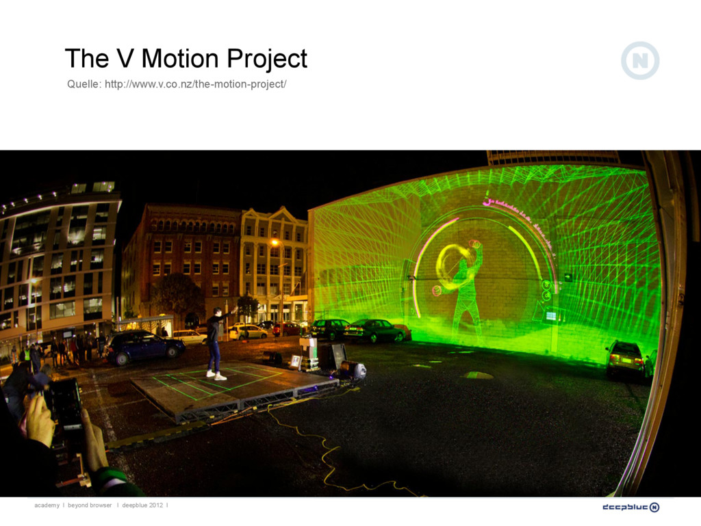 The V Motion Project Quelle: http://www.v.co.nz...