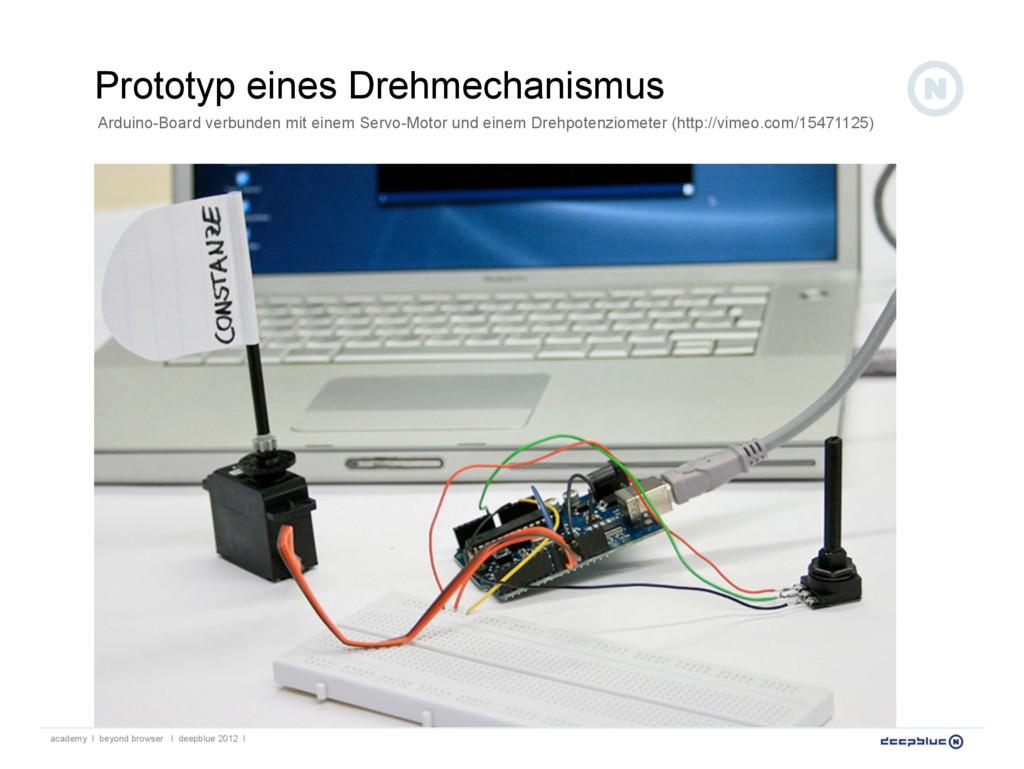 Prototyp eines Drehmechanismus academy I beyond...