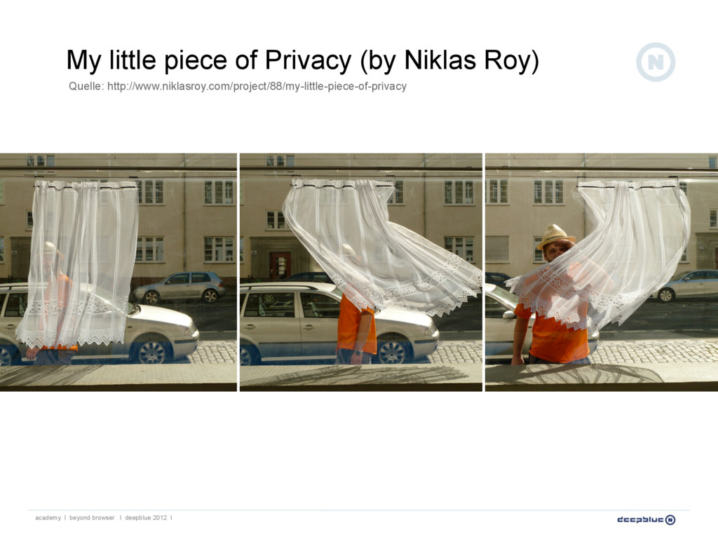 My little piece of Privacy (by Niklas Roy) acad...