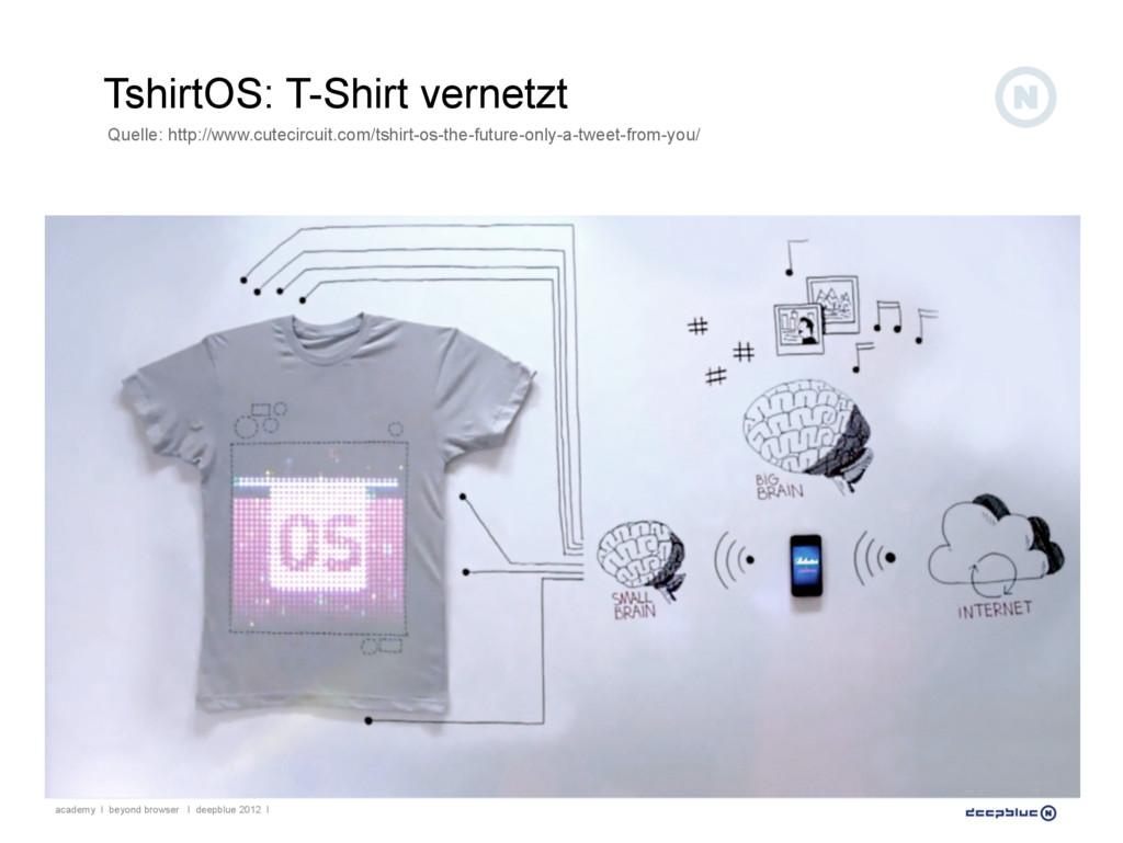 TshirtOS: T-Shirt vernetzt academy I beyond bro...