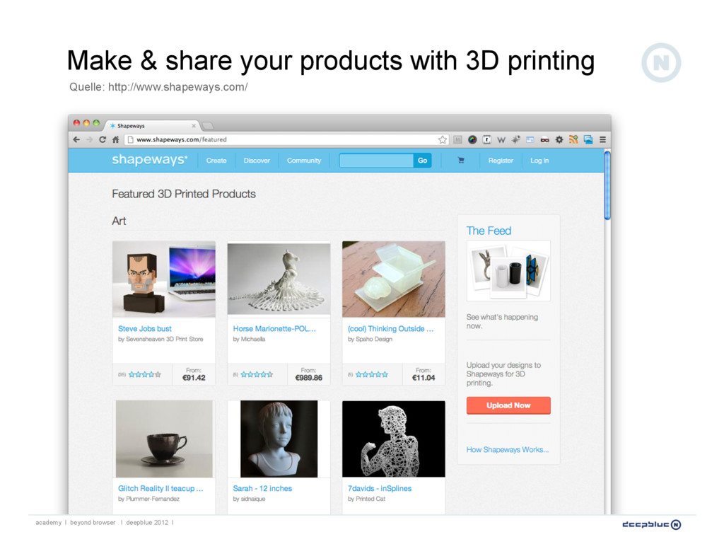 Make & share your products with 3D printing aca...