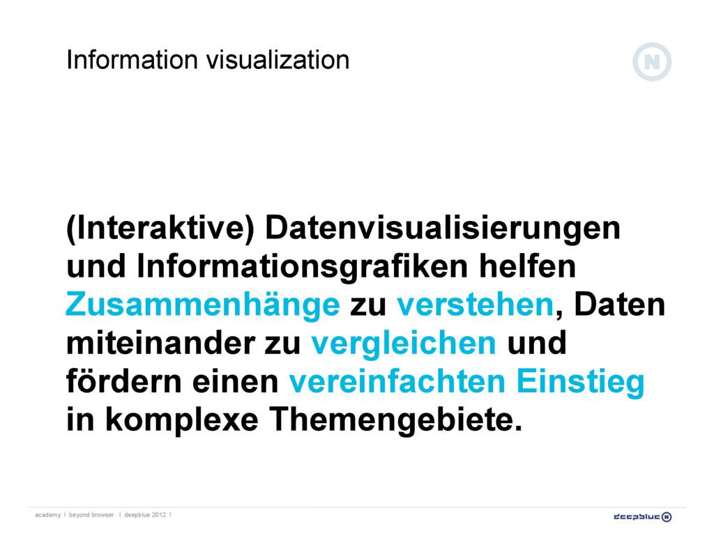 (Interaktive) Datenvisualisierungen und Informa...