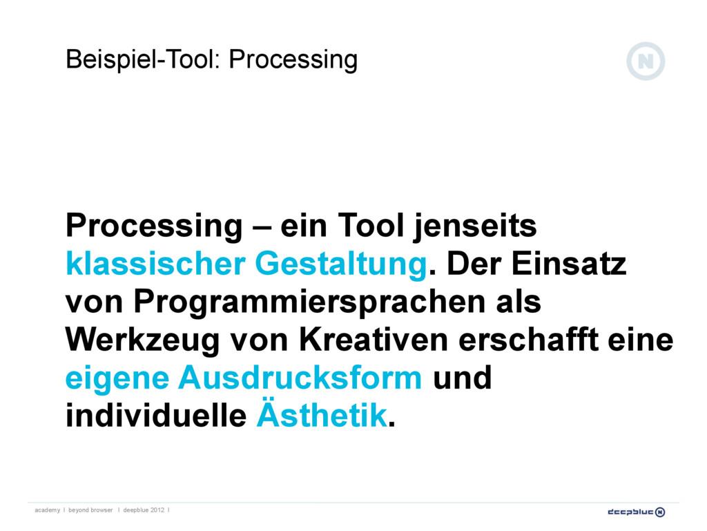 Processing – ein Tool jenseits klassischer Gest...