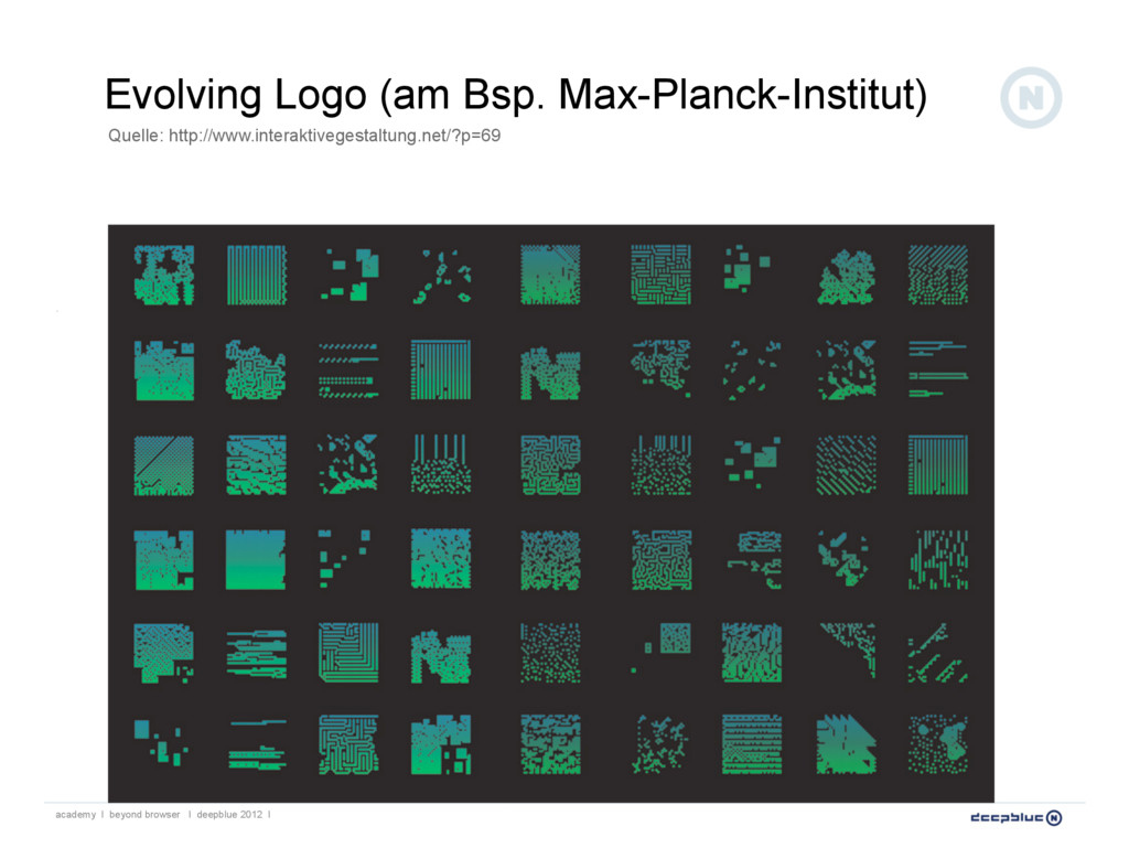 Evolving Logo (am Bsp. Max-Planck-Institut) aca...