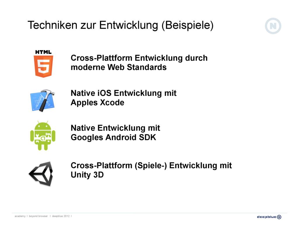Cross-Plattform Entwicklung durch moderne Web S...